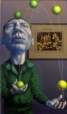 Wandertag 3b, Rudolf Hausner, 1979 Land Art, Rudolf Hausner, Pop Art, Summer Painting, Lowbrow Art, Weird Pictures, Postmodernism, Surreal Art, Portrait