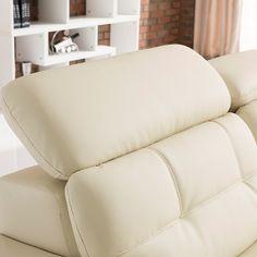 Регулируемый подголовник большого кожаного белого дивана https://lafred.ru/catalog/catalog/detail/45518344280/