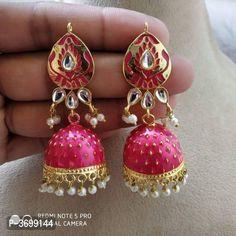Meenakari & Kundan Earrings by Ashu Fashion Club - Online shopping for Earrings on MyShopPrime - Beautiful Earrings, Indian Jewelry, Women's Earrings, Choker, Brides, Delivery, Jewellery, Book, Google