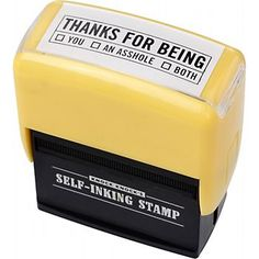 When the urge to wield a rubber stamp strikes, an inkpad is rarely at hand. Imprint style and wit on the plainest of pages with the latest in impression-making technology. With our oh-so-funny, all-in-one Self-Inking Stamps, blank paper doesn't stand a chance!