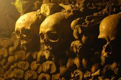 The Paris Catacombs (or Catacombes de Paris, as they're called in French) are a maze of tunnels and crypts underneath the city streets where Parisians placed the bones of their dead for almost 30 years.