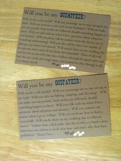 Will you be my Godparents? Could be be less gendered and more faith based ... but great idea.