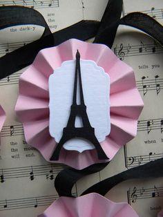Items similar to Eiffel Tower Medallion Tags . set of 6 on Etsy Parisian Party, Parisian Wedding, Paris Birthday Parties, Chic Bridal Showers, Romantic Paris, Christmas In Paris, Pink Paris, Barbie Party, Paris Theme