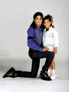 Michael and his niece Brandi for an LA Gear Photoshoot | 1990