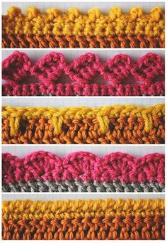 Crochet Patterns For Edging 5 Crochet Edges To Have In Your Arsenal We Love Crochet Crochet Patterns For Edging Crochet Borders 3 The Little Flowers Bordure Crochet. Crochet Patterns For Edging Lovely Crochet Edging Patterns Ideas Hat. Crochet Diy, Crochet Simple, Love Crochet, Learn To Crochet, Crochet Crafts, Crochet Ideas, Easy Crochet Projects, Scarf Crochet, Crochet Tutorials