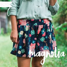 Image of Magnolia Shorts -- PDF Instant Download Shorts that look like a skirt