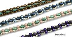 This pattern produces a lovely delicate beaded chain which can be used as a pretty bracelet, shaped into an elegant chain for a pendant or