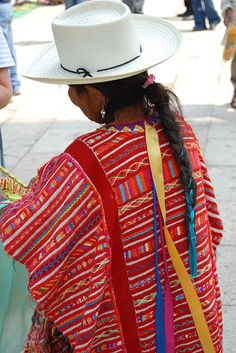 This Triqui woman is selling weavings at the Saturday market in Tlaxiaco Oaxaca. She comes from the area of San Andres Chicahuaxtla further to the south