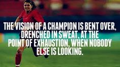 :Mia Hamm <3  this is my pump up quote!!  this was said by anson dorrance (coach of the unc womens soccer team) when he saw mia working out alone