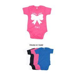 Baby girl romper, little miss romper, personalized romper, name romper, bow romper, baby birthday romper, customizable girl romper, cute by KMLeonBE on Etsy