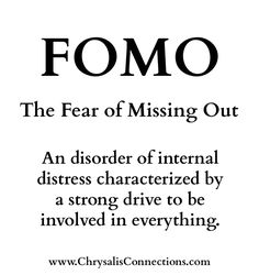 """Do you suffer from FOMO? Fear Of Missing Opportunities?  """"Live life then with a due sense of responsibility not as men who do not know the meaning and purpose of life but as those who do. Make the best use of your [opportunities] despite all the difficulties of these days. Don't be vague but firmly grasp what you know to be the will of God."""" Ephesians 5:15-16  (1) Prioritize Gods Presence: """"Whether you turn to the right or to the left your ears will hear a voice behind you saying This is the…"""