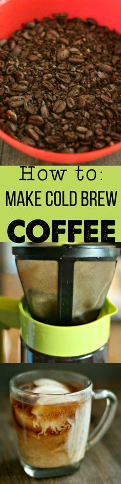 How to: Make cold brew iced coffee. Save money and make your own cold brew at home! via /DashOfEvans/