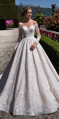 lace ball gown wedding dresses sweetheart with long sleeves lanovia penza Sweetheart Wedding Dress, Princess Wedding Dresses, Best Wedding Dresses, Bridal Dresses, Wedding Gowns, Backless Wedding, Boho Wedding Dress, Lace Wedding, Modest Wedding