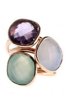 Ring Amethyst Sterling Silber rosé vergoldet von NEW ONE! I <3