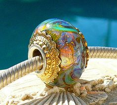 GLITTERIZE OPAL Fully Lined Sterling Silver Big by beachlifebeads, $38.00