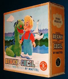 Ultra RARE Vintage 1960's BEANY & CECIL TV PALS Doll Set MATTEL Clampett Signed