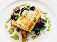 Chef Robert Clark, co-owner of a sustainable seafood market in Vancouver called The Fish Counter, gave us this recipe for sablefish, called black cod in the U. Cod Recipes, Fish Recipes, Seafood Recipes, Paleo Recipes, Yummy Recipes, Sustainable Seafood, Seafood Market, Fish Dishes, Pisces