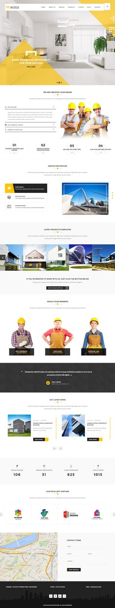 Agile is Premium full Responsive Retina #ConstructionCompany #template. Bootstrap 3 Framework. #OnePage. Revolution Slider. Test free demo at: http://www.responsivemiracle.com/cms/agile-premium-responsive-building-construction-html5-template/