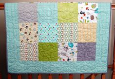 """Sale Riley Blake Life in the Jungle Baby or Toddler Boy Quilt ---39"""" x 46"""" on Etsy, $107.00"""
