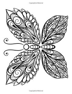 The Worlds Best Butterfly Coloring Book A Stress Management Coloring Book For Adults
