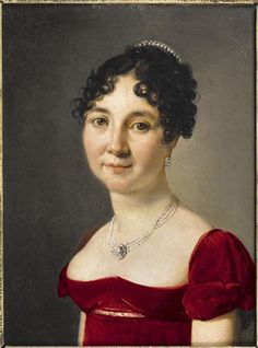 Boilly-beautiful red velvet dress!