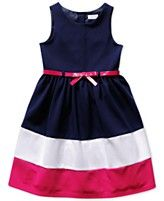 Bloome Girls' Plus Colorblocked Belted Dress