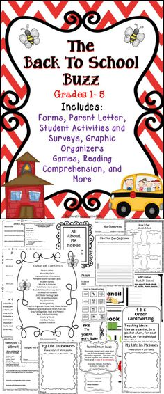 The Back To School Buzz - Includes printables, activities, and more.  This back to school activity book will save teachers time! #backtoschool #fall #education