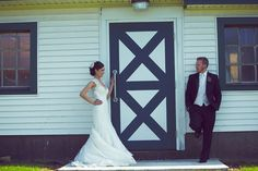 The Bride & Groom posing by The Barn at Perona Farms during their wedding , a rustic wedding venue. Photo Credit: Le Image #peronafarms #njwedding #outdoorceremony #barn #njbarn #njbarnwedding #barnwedding #wedding #rustic