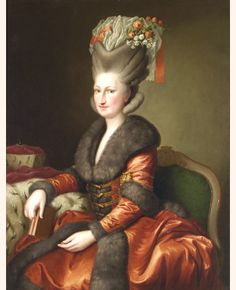 Maria Amalia,Queen of Saxony by an unknown Saxon painter,c. 1780