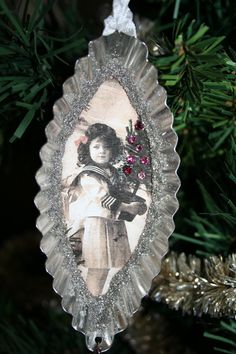 FOR CAROLYN 2 Tart tin ornaments. by creationsbyminda on Etsy