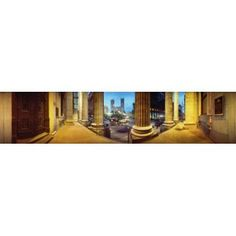 360 degree view of the Notre Dame De Montreal Montreal Quebec Canada Canvas Art - Panoramic Images (22 x 5)