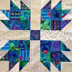 I've really got to think of a better name for this quilt. At the moment I'm just calling it what it is, a scrappy bear paw quilt. I really...