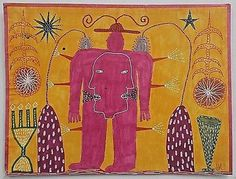 Outsider Art Drawing. Original John McKie Art Brut.