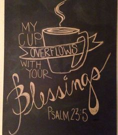 "Chalkboard <a href=""http://art....my"" rel=""nofollow"" target=""_blank"">art....my</a> cup overflows. I HAVE to make this for our coffee bar!!"