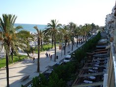 The promenade along the Mediterranean in Sitges