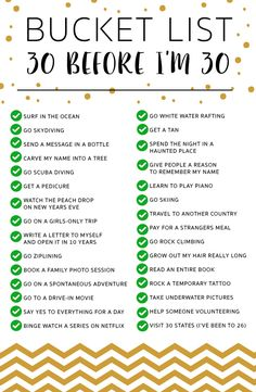 30 before 30 bucket list_checked all things to do in 2019 30 Bucket List Quotes, Bucket List Life, Summer Bucket Lists, Senior Bucket List, Oreo Pops, 30 Before 30 List, 30 Things To Do Before 30, P90x Workout Schedule, Workout Challenge
