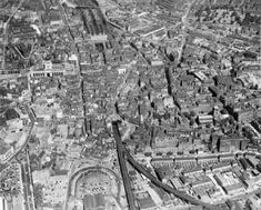 St Mary's Church, Windsor Road and the town, Slough, 1938 Nottingham Station, Nottingham City Centre, Nottingham Road, Steam Railway, Old Trains, History Photos, England Uk, Aerial View, Old Pictures