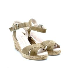 Gaimo Cury Suede Mid Wedge Espadrilles | Spanish Fashion - SPANISH SHOP ONLINE | Spain @ your fingertips