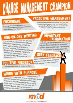 Empowering Infographic: 7 Tips to Becoming a Change Management Champion - Change! Hey- find out how JAMSO helps people and business introduce the best change for rapid results through #changemanagement. http://www.jamsovaluesmarter.com