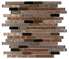 Modern Glass Mosaic Tile Linear Copper for Kitchen Backsplash, Bathroom, and Feature Wall. Copper Kitchen, Kitchen Redo, Kitchen Colors, Kitchen Backsplash, Backsplash Ideas, Copper Backsplash, Backsplash Design, Red Kitchen, Kitchen Cabinets