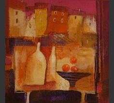 Anuk Naumann - Sunset Still Life Painting Still Life, St Ives, Be Still, Fig, Abstract Art, Projects To Try, Recycling, Fine Art, Artist