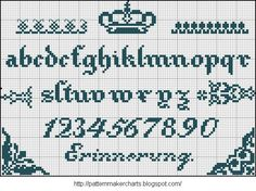 Free Easy Cross, Pattern Maker, PCStitch Charts + Free Historic Old Pattern Books: German Booklet Crochet Alphabet, Cross Stitch Alphabet, Cross Stitching, Cross Stitch Embroidery, Embroidery Patterns, Letter Patterns, Pattern Books, Cross Stitch Designs, Cross Stitch Patterns