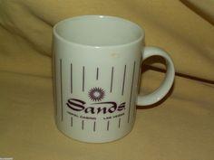 SANDS HOTEL MUG CASINO LAS VEGAS NEVADA NV COFFEE TEA CUP PURPLE STRIP GAMBLE