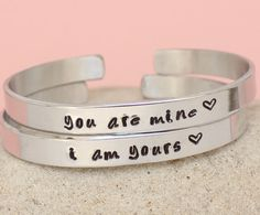 You are Mine  I am Yours  Bracelets  Game of Thrones by keepWEARME, €17.00