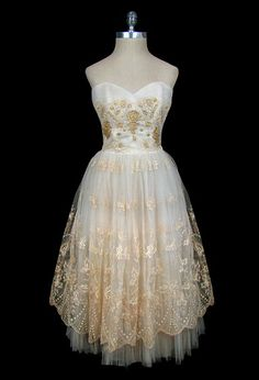 this looks like something belle from beauty and the beast would wear to her wedding.