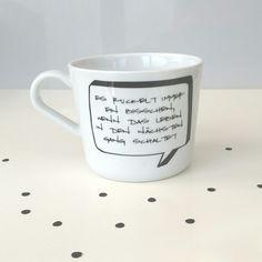 """Becher & Tassen - Tasse """"Es ruckelt immer ein bisschen, ...&... - ein Designerstück von Die_Design_Manufaktur bei DaWanda"""