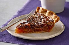 Salted-Chocolate Pecan Pie recipe   Sea salt brings a surprise to this chocolate-studded pecan pie. It's the best of everything a dessert should be in one pie shell.
