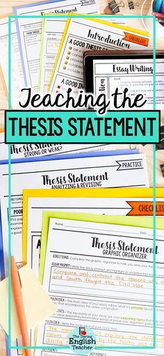 teaching how to write a thesis statement
