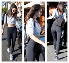 Kendall Jenner- casual street style in Nike leggings