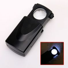 H, NEW 30X LED Jewelry Eye Glass Magnifier Loupe